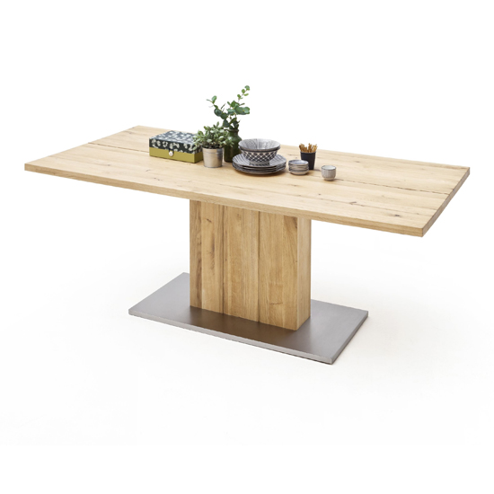 Greta Small Splitted Plate Dining Table In Solid Oak