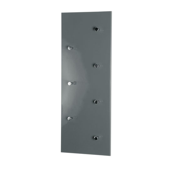Wall Mounted Grey Coat Rack In High Gloss