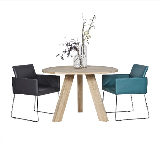 Tripod Dining Table Round In White Pine Solid Oak