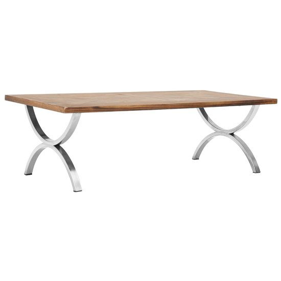 Greytok Rectangular Wooden Coffee Table In Natural