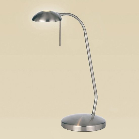 Hackney Table Lamp In Sain Chrome