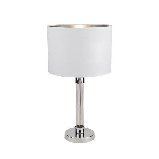 Hadley Table Lamp With Glass Cylinder Centre In Chrome_1