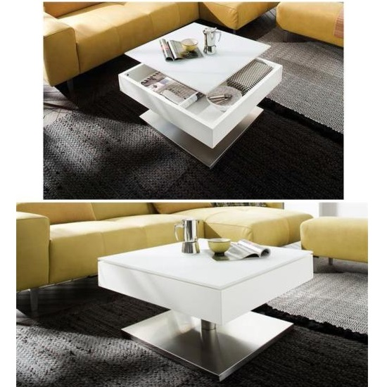 Hadley Storage Glass Coffee Table In Matt White With Metal Base_2