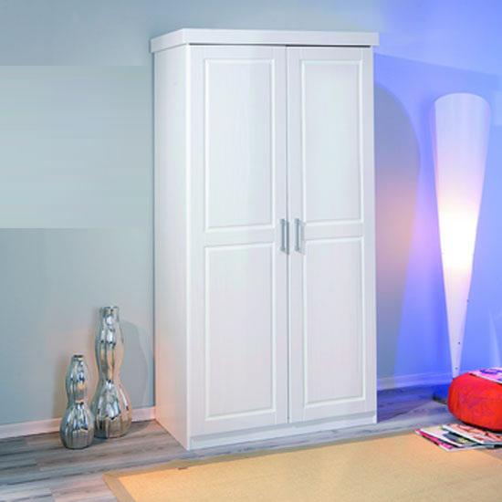 Hakon White Pine 2 Door Wardrobe