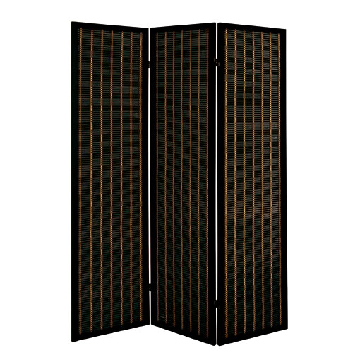 on bamboo 4 panel folding room divider in natural now only