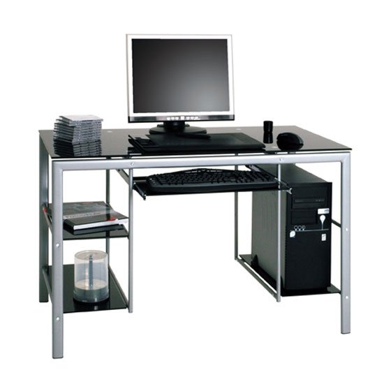 Black Glass puter Desk images