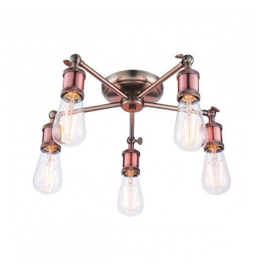 Hal Five Ceiling Light With Round Base