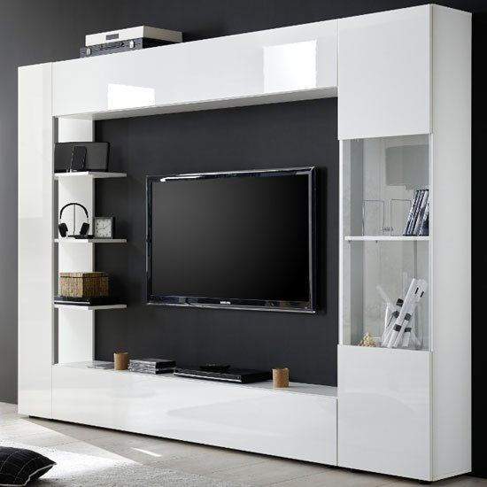 Halcyon Large Entertainment Unit In White High Gloss_2