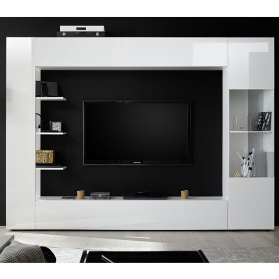 Halcyon Large Entertainment Unit In White High Gloss