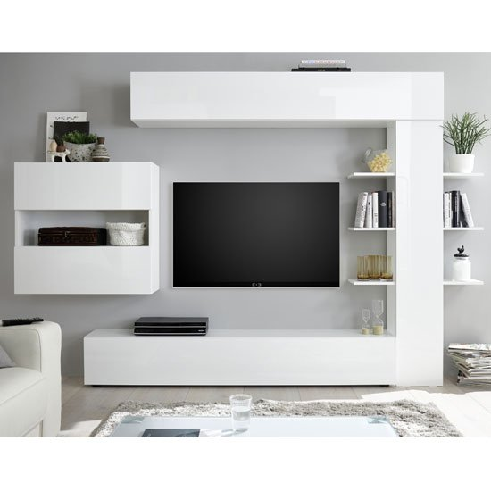 Halcyon Wall Entertainment Unit In White High Gloss_1