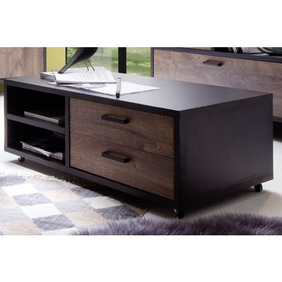 Halifax Wooden Coffee Table In Barrique Oak