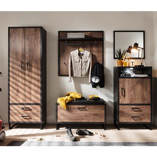 View Halifax wooden hallway furniture set in barrique oak