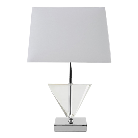 Haliona White Fabric Shade Table Lamp With Chrome Base_2