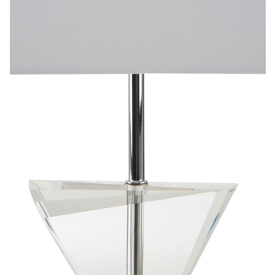 Haliona White Fabric Shade Table Lamp With Chrome Base_3