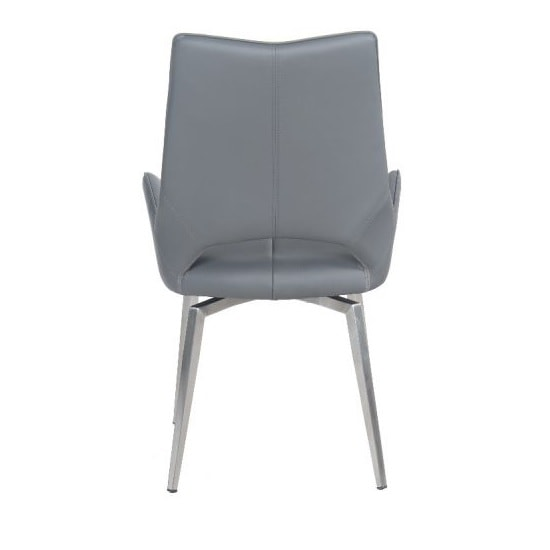 Halle Swivel Dining Chair In Grey Faux Leather_5