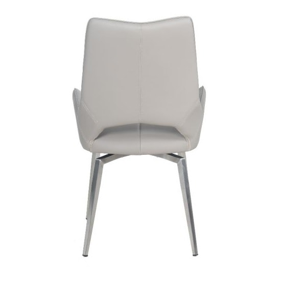 Halle Swivel Dining Chair In Taupe Faux Leather_5