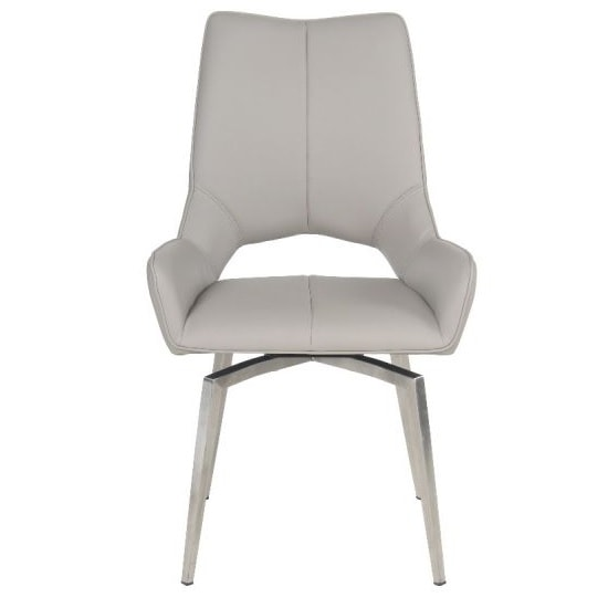 Halle Swivel Dining Chair In Taupe Faux Leather_2