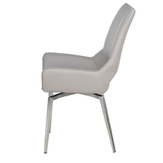 Halle Swivel Dining Chair In Taupe Faux Leather_4