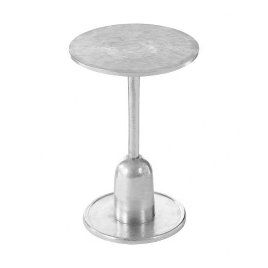 Hallo Aluminium Side Table In Silver_2