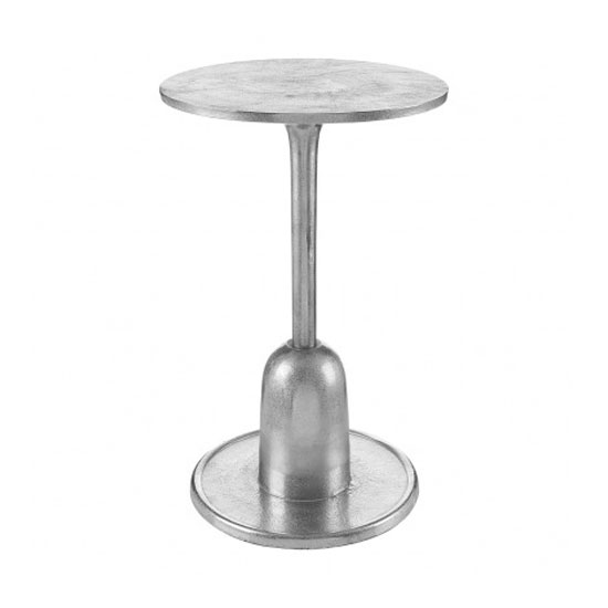 Hallo Aluminium Side Table In Silver_1