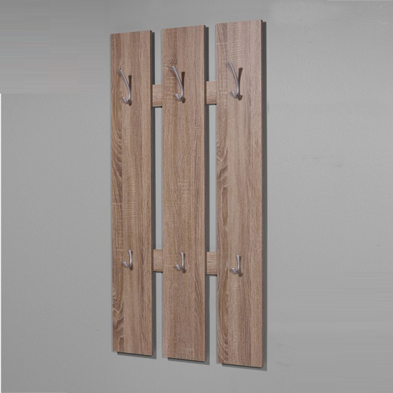 Super Wall Mounted Hallway Stand in Dark Oak