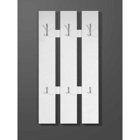Primus Modern Wall Mounted Hallway Stand In White
