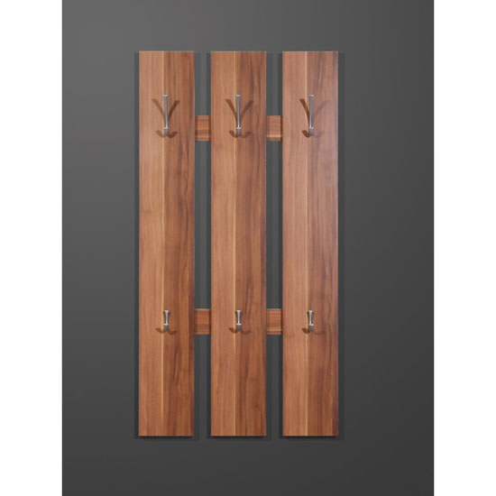 Primus Modern Wall Mounted Hallway Stand In Walnut