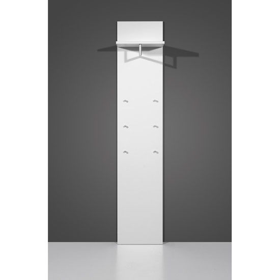 California Wall Mounted Hallway Stand In White