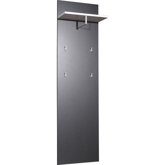 Read more about Trento wall mounted hallway stand in anthracite and white