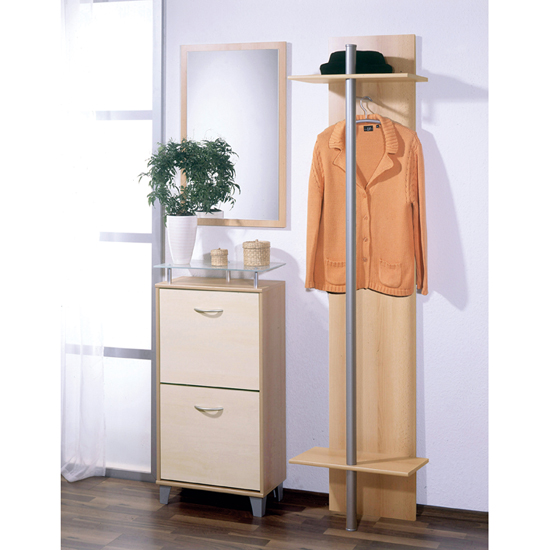 Wall Mounted Beech and Birch Hallway collection