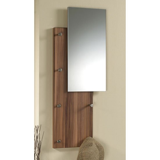 Pablo2 Walnut Wall Mounted Hallway Stand