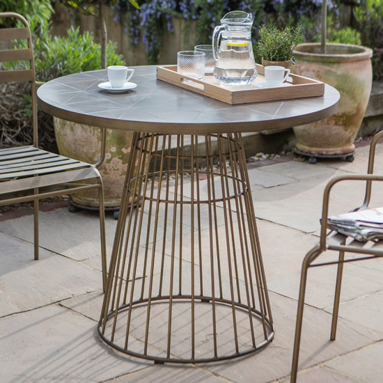 Halstow Ceramic Tiles Top Bistro Table In Bronze_1