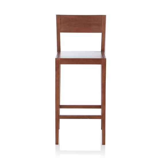 Halvorsen Wooden Bar Stool In Walnut