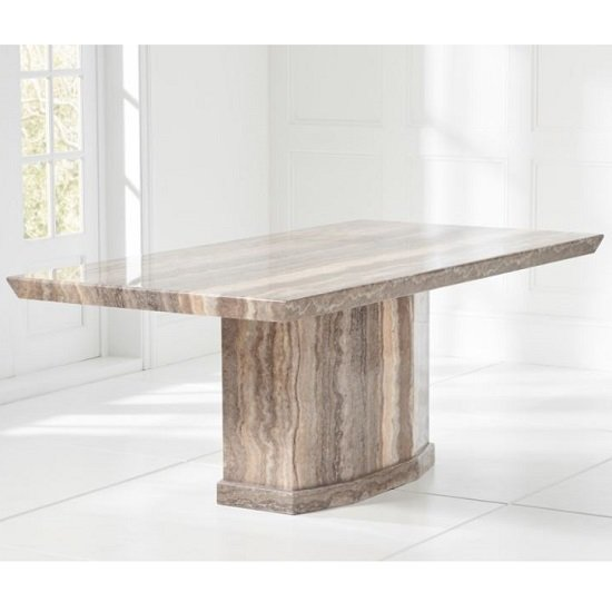 Hamlet Marble Large Dining Table Rectangular In Brown