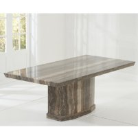 Hamlet Marble Dining Table Rectangular In Brown 30603