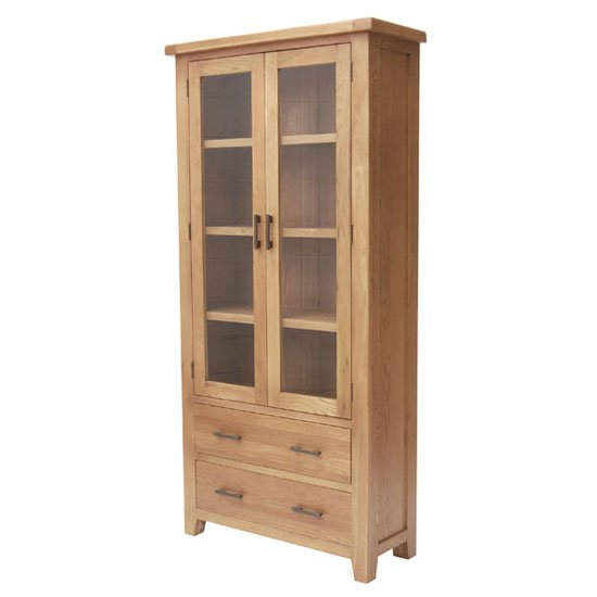 Hampshire Wooden Display Cabinet In Oak_1