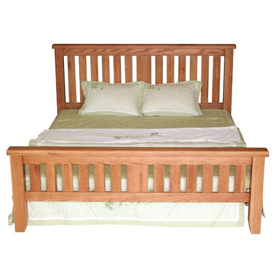 Hampshire Wooden Double Bed In Oak