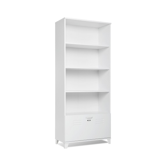 Hampstead Wooden Bookcase Or Shelving Unit In White