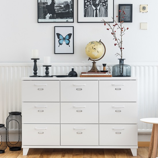 Hampstead Modern Chest Of Drawers In White