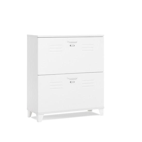 Hampstead Wooden Shoe Storage Cabinet In White