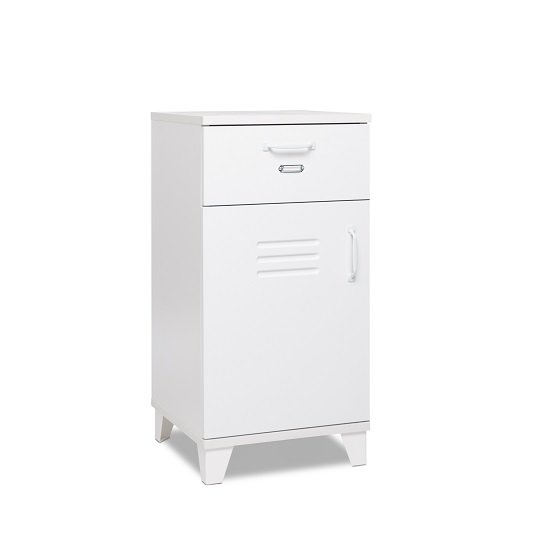 Hampstead Storage Cabinet In White With 1 Door