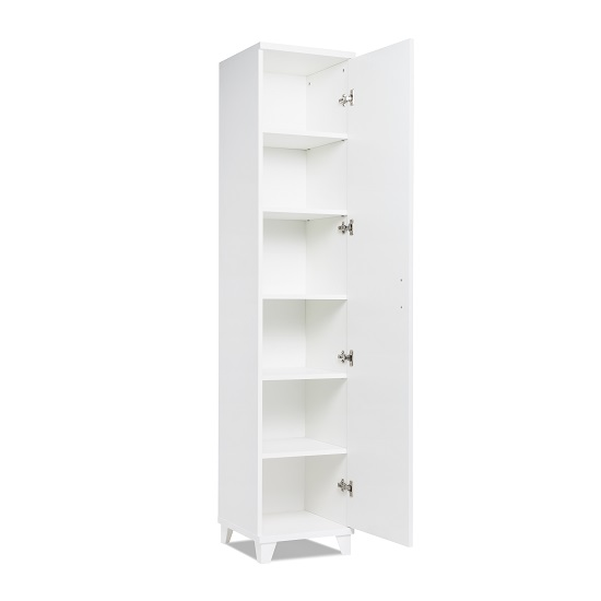 Hampstead Contemporary Wooden Storage Cupboard In White_3