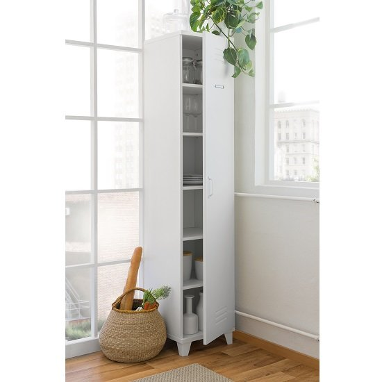 Hampstead Contemporary Wooden Storage Cupboard In White_2