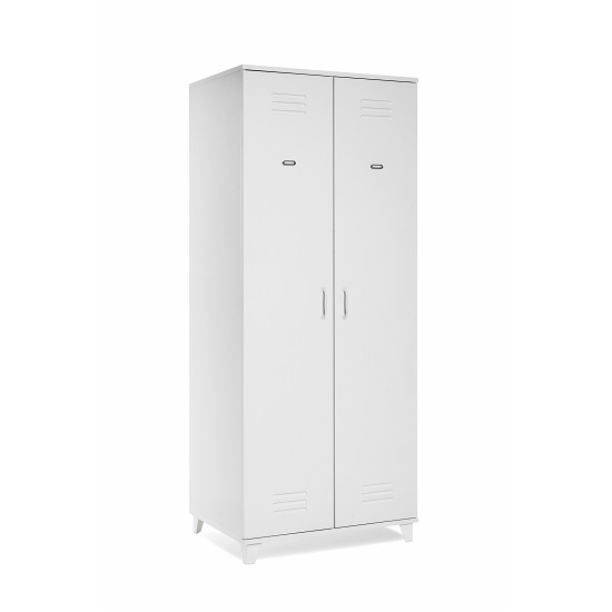 Hampstead Contemporary Wooden Wardrobe In White With 2 Doors