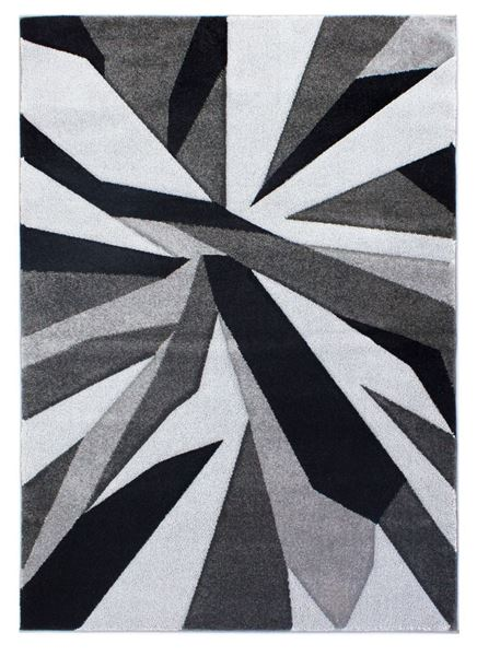 Hand Carved Shatter Black And Grey Rug_1