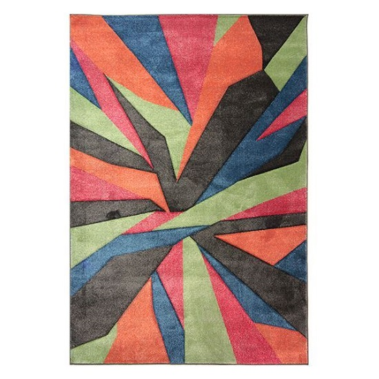 Hand Carved Shatter Multi Color Rug