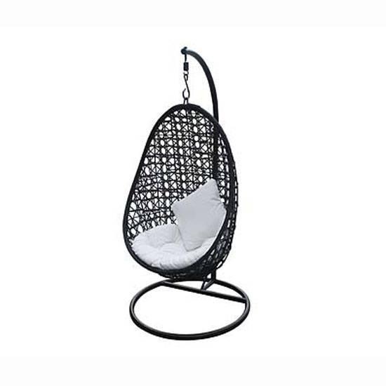 Hanging Rattan Chair In Black 2402113