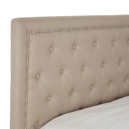 Hannah Wooden King Size Ottoman Bed In Beige_3