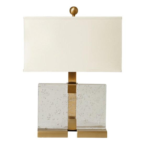 Hannah Table Lamp In Warm White With Brass Accents_1