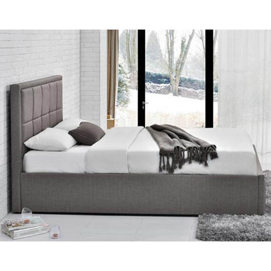 Hannover Ottoman Fabric Double Bed In Grey_2